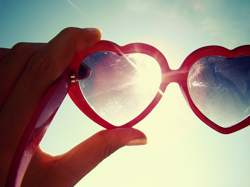 Love colored glasses