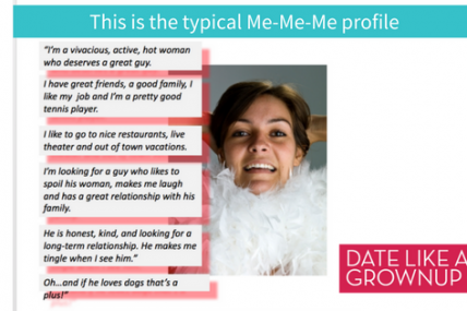 Bad Online Dating Profile for women over 40