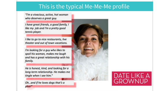 Online dating profile for a woman