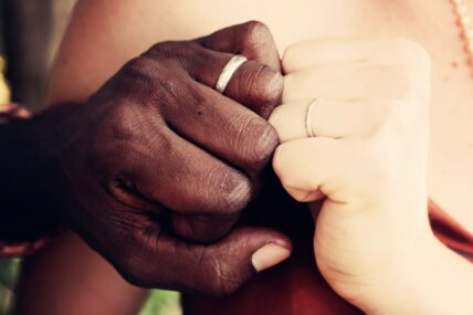 interracial committed couple